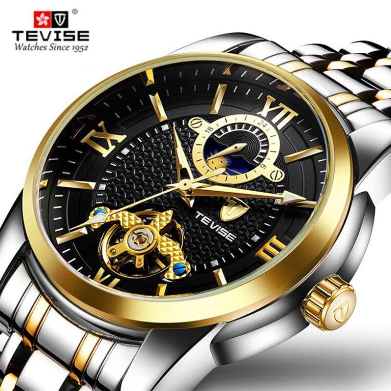 Men's Watch Luxury Brand Tourbillon Wrist Watches for Men Clock Luminous Automatic Mechanical Watch