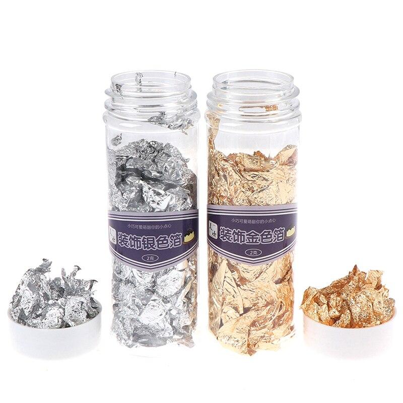 Shiny Gold Leaf Flake Luxury Resin Art Decoration Handicrafts Gilding Decoration Jewelry Making Supplies