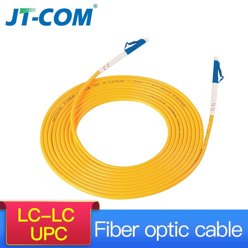 LC LC Singlemode Fiber Optic Patch Cable LC UPC SM 2.0 or 3.0mm 9/125um FTTH Fiber Patch Cord Optical Fiber Jumper 3m 10m 30m