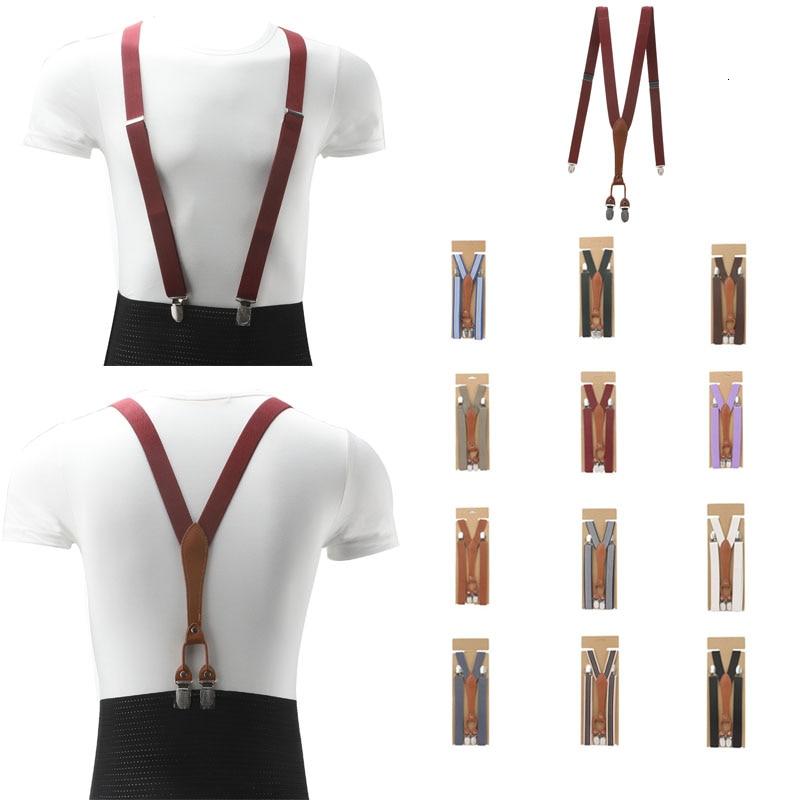 Обтягивающие модные простые женские подтяжки шириной 2 5 см коричневые кожаные
