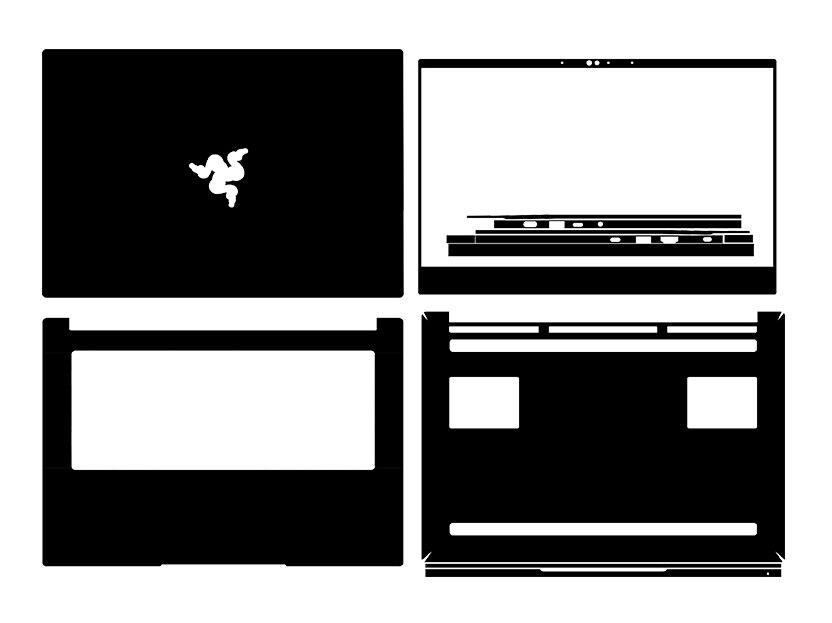 ألياف الكربون محمول ملصق الجلد غطاء لصائق حامي ل Razer بليد 14 RZ09-0370 14