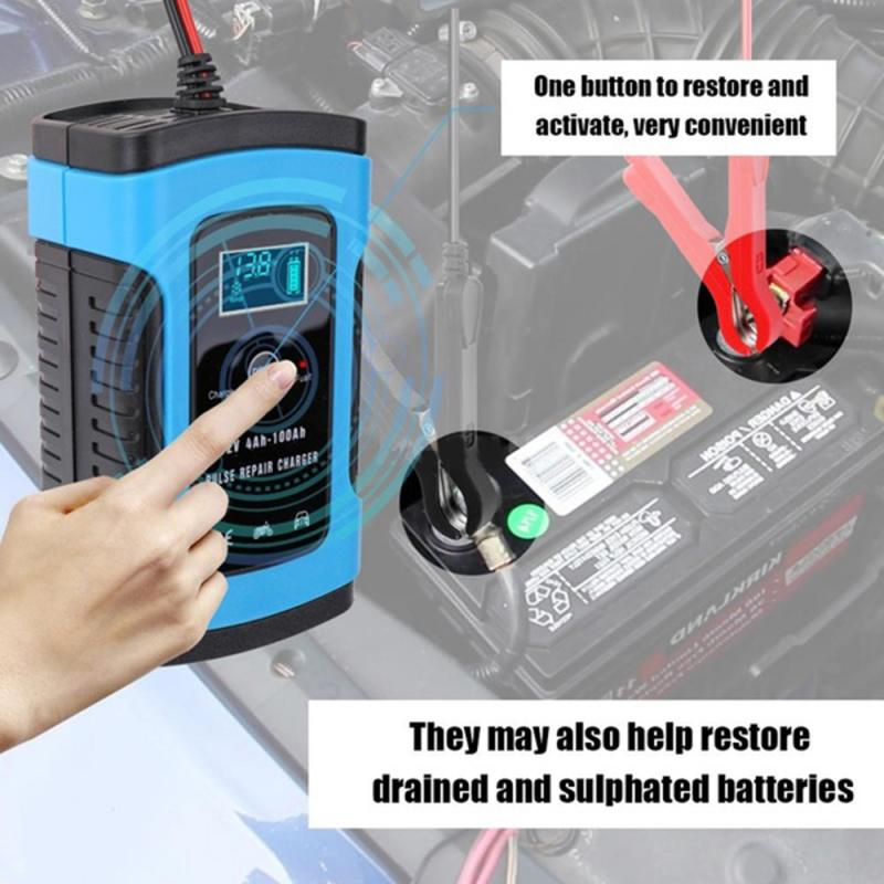 12V 6A Intelligent Car Motorcycle Battery Charger For Auto Moto Lead Acid...