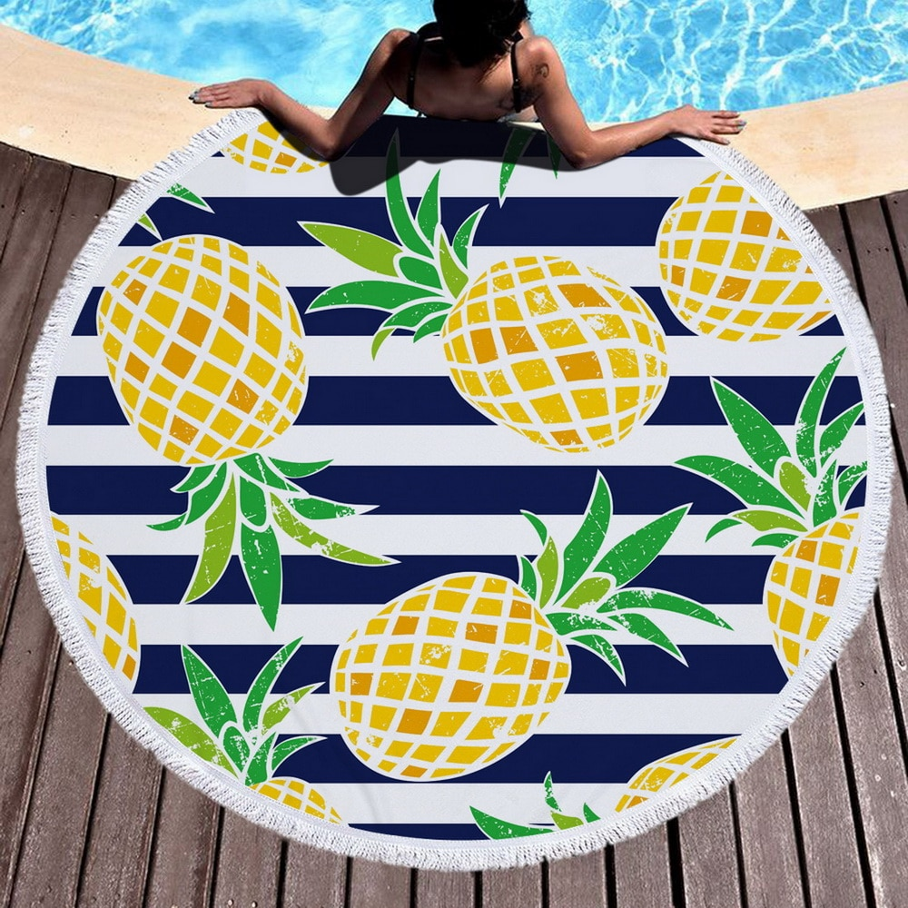 Toalla de playa de microfibra Boho con cordón mochila bolsa deporte grande manta de Yoga verano natación toallas playa 150cm