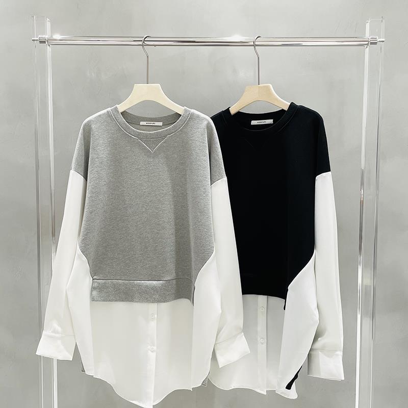 Новинка 2021, весенние пуловеры, Женская свободная Длинная толстовка с капюшоном, двойная толстовка с капюшоном, Женская длинная Стильная бел...