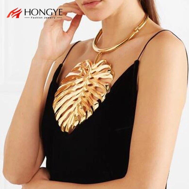 HONGYE   Maxi big Collier Statement Necklace Punk Power Collar Choker fashion jewelry Dubai  Hot Sale Wholesale  Gift
