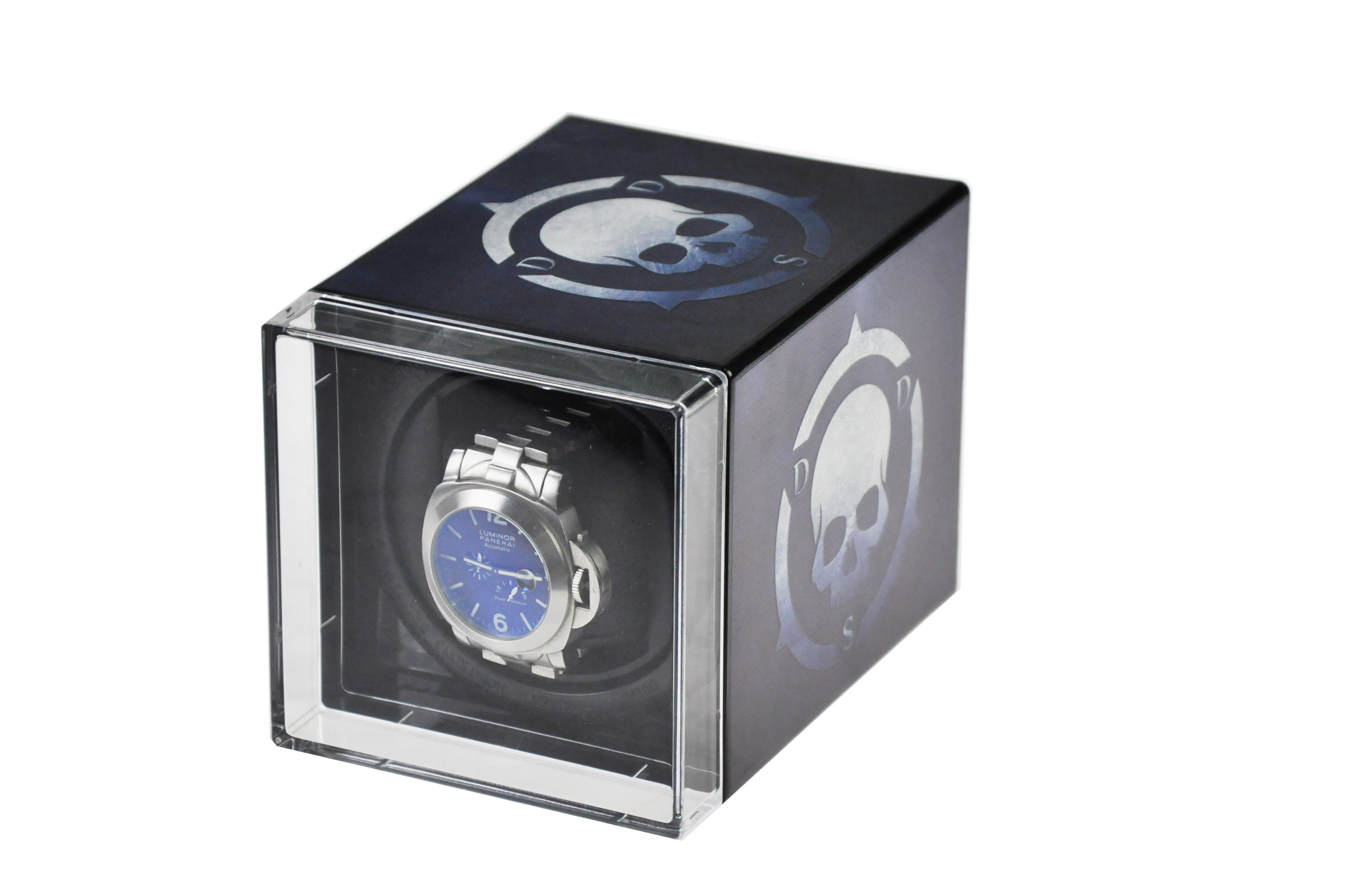 National flag USB Power Supply Mechanical Watch Winding Box Case Motor Shaker Mini Watch Winder Holder Display Jewelry Storage