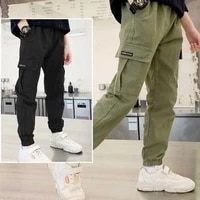 boys pants 2021 spring and autumn new childrens casual sports trousers fashion all match overalls kids clothes bk01