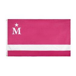 Moderdonia vida moderna bandeira 150*90cm 3ft x 5ft personalizado bandeira de metal buracos grommets