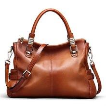 Nesitu Highend A4 Large Capacity Vintage Brown Genuine Leather Women Handbags Lady Shoulder Messeger