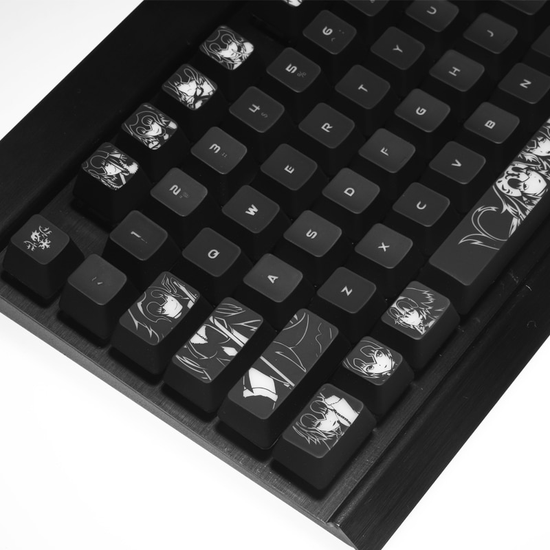1 set high-end backlit keycap for Fate mechanical keyboard black hole coating key cap for Corsair Razer huntsman IKBC Cherry mx
