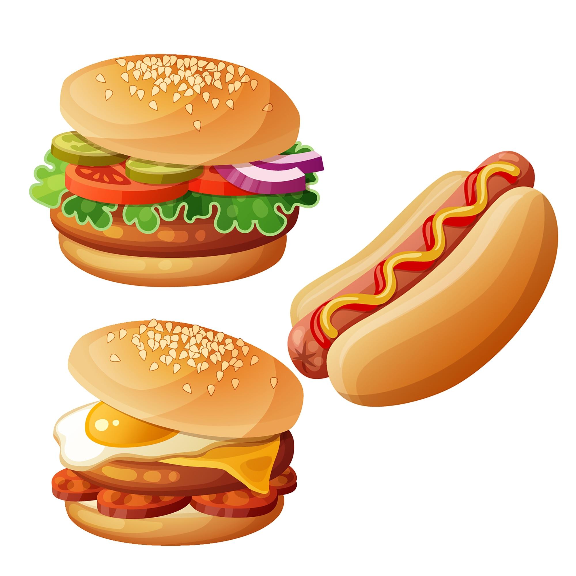 Hamburger Hot dog Praise Sandwich Cake Metal Cutting Dies Delicious Food Stencil for DIY Scrapbooking Card Decorative