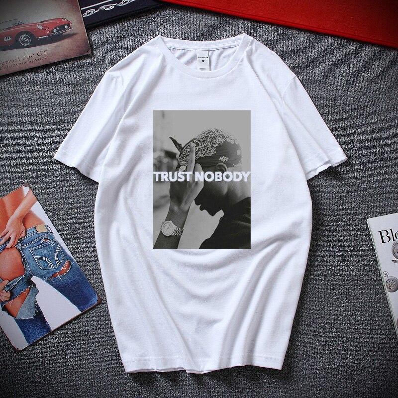 2 Pac Shakur Trust no Funny Мужская и женская футболка унисекс летняя уличная футболка в стиле хип-хоп хлопковая футболка с короткими рукавами homme