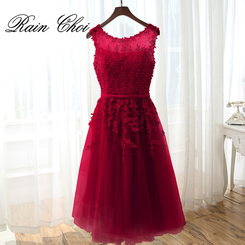 Short Evening dress 2021 Appliques Women Short Formal Party Gown Cocktail Dresses