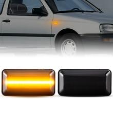 2 шт. динамический Янтарный Светодиодный Боковой габаритный указатель поворота светодиодные боковые Габаритные последовательного мигалка светильник для VW Golf 3 MK3 Vento Seat Ibiza 2 MK2 Seat Cordoba