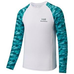 Bassdash Youth UPF50+ Camo Long Sleeve Fishing Shirt UV Protection Quick Dry Tee