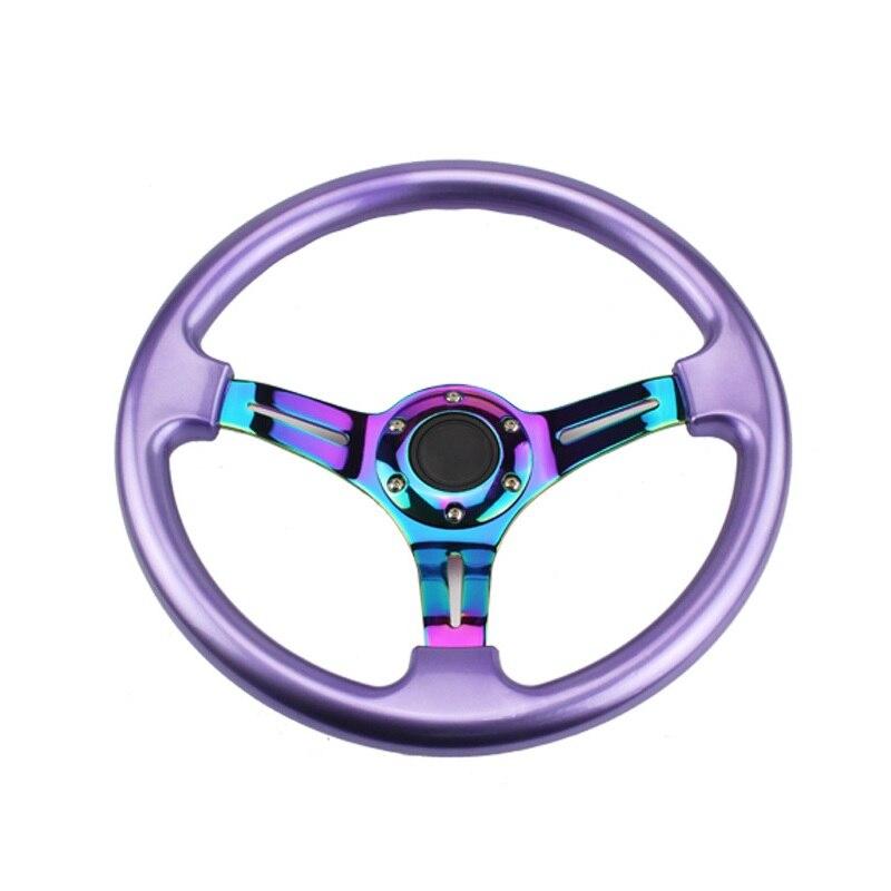 350mm 14 pulgadas ABS volante de coche Deep Dish Universal Auto Racing Retrofit chapado Color Car-styling nueva calidad personalidad