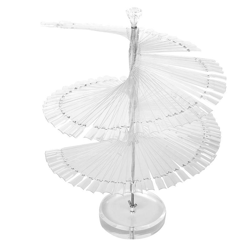 Pro Spiral Fan Shape Display Stand Holder for 120pc False Nail Art Polish Board Tips Stick