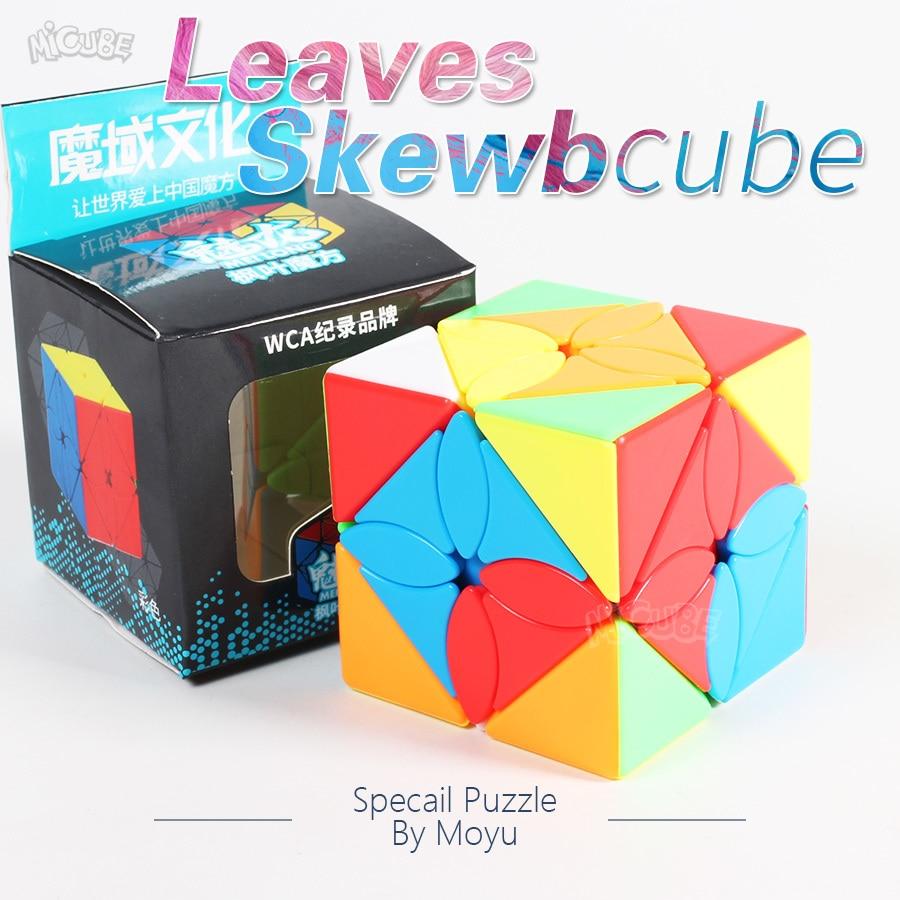 Cubo oblicuo de hojas Moyu Meilong, rompecabezas especial de forma extraña, Cubo de hiedra Magic Spee Cubes3x3x3, juguete educativo Skewbube