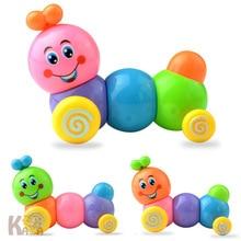 Venta directa de fabricantes de juguetes de cuerda en T con contracción Caterpillar Spring Caterpillar