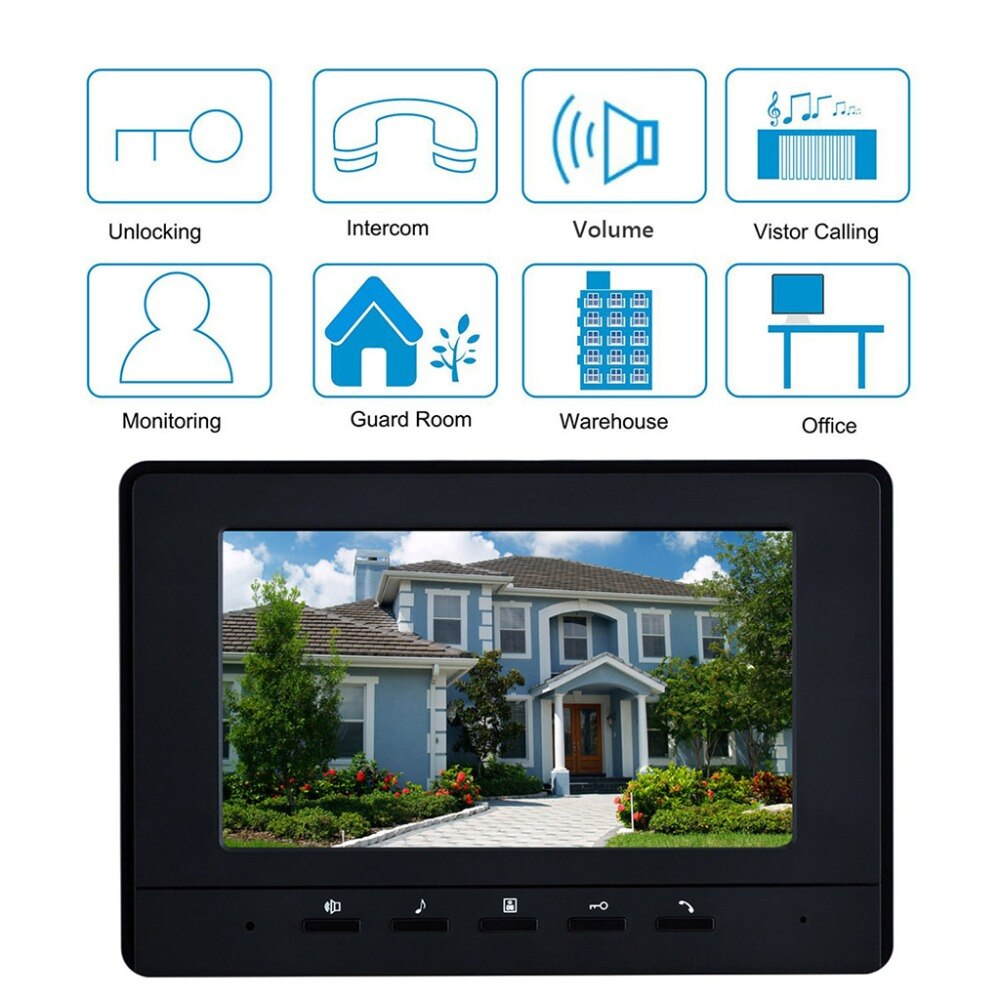 2 - 4 Units Apartment Video Doorphone Intercom System 7 inch Monitor Video Doorbell  Night Vision Waterproof for Home Security enlarge