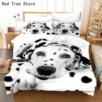 3d spotty dog bedding set animal pets print duvet cover kids adult comforter bedclothes single double bed twin king size bedline