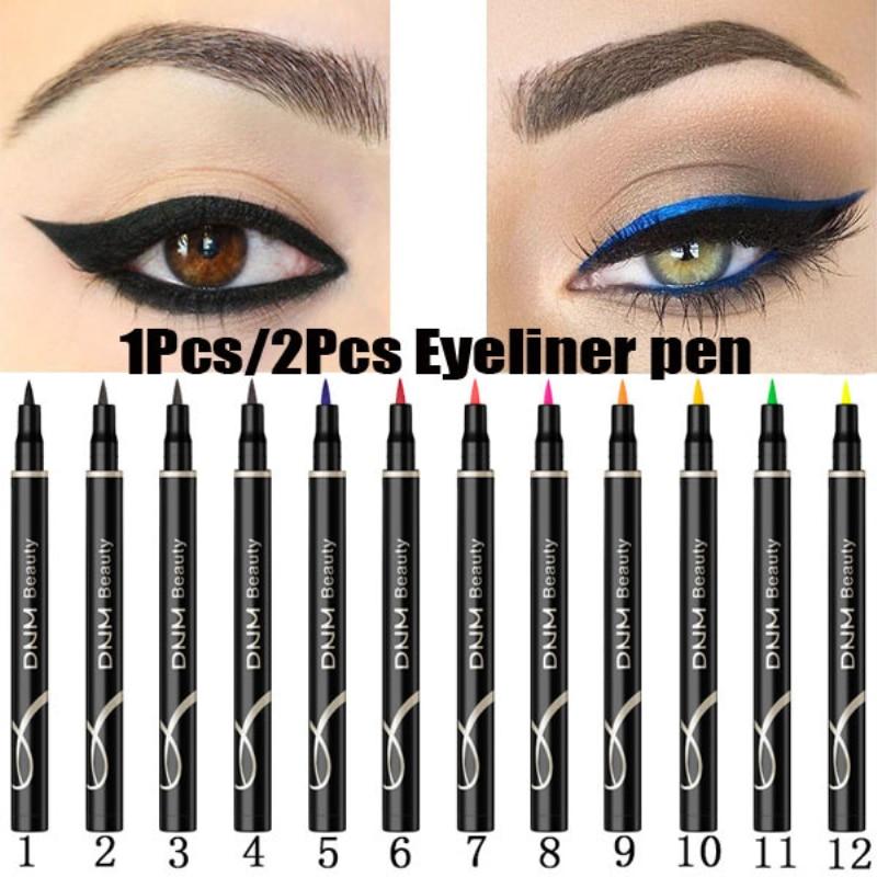DNM12 color color eyeliner pen long-lasting waterproof and sweat-proof not blooming Cat Eye Makeup liquid Eye Liner Beauty TSLM1