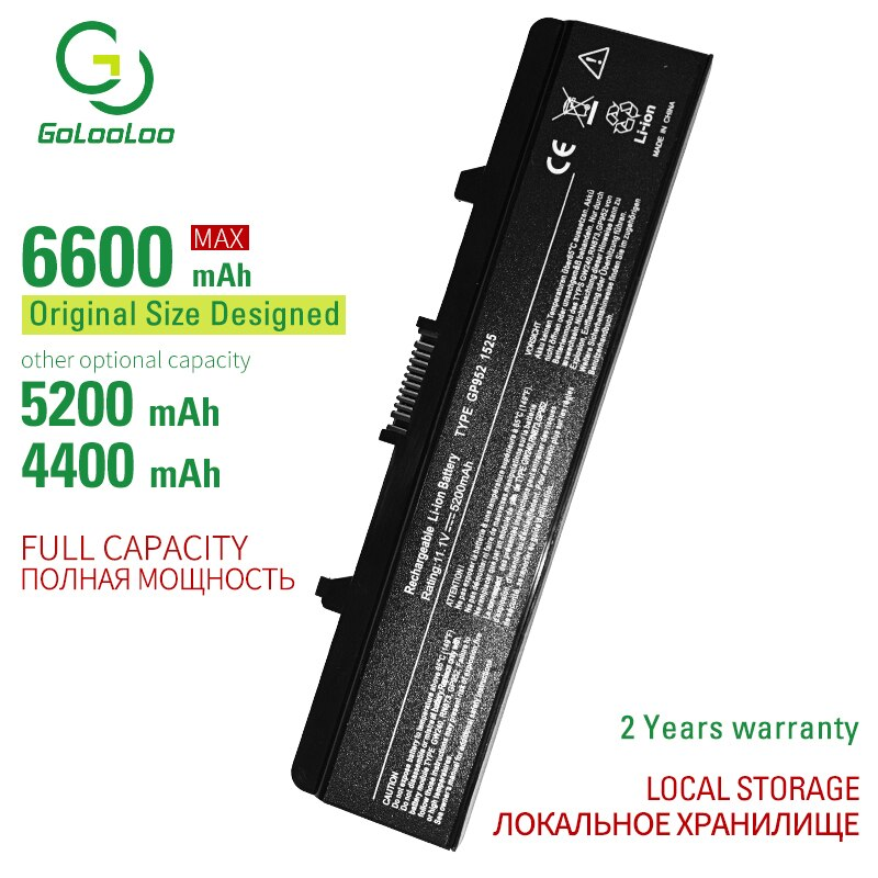 6600mAh 6CELL New Laptop battery For DELL Inspiron 1525 1526 1545 1546 Vostro 500 CR693 GW240 GW241