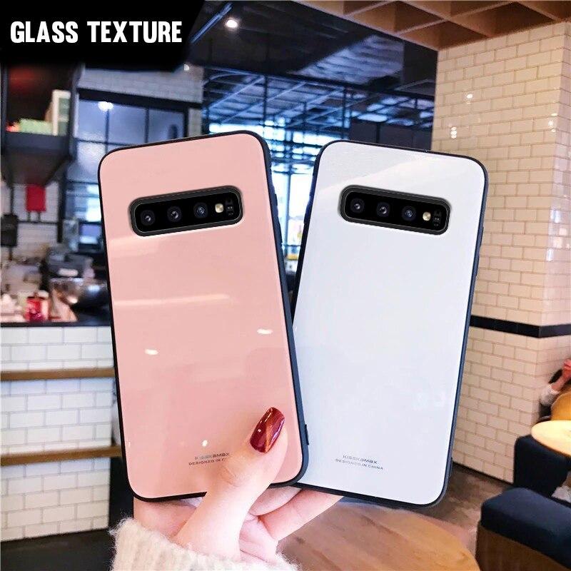 Vidrio templado para Samsung Galaxy S20 Ultra S10E S9 S8 más S7 borde A10 A30 A50 A70 A90 5G A20S M30S A51 cubierta de Color sólido