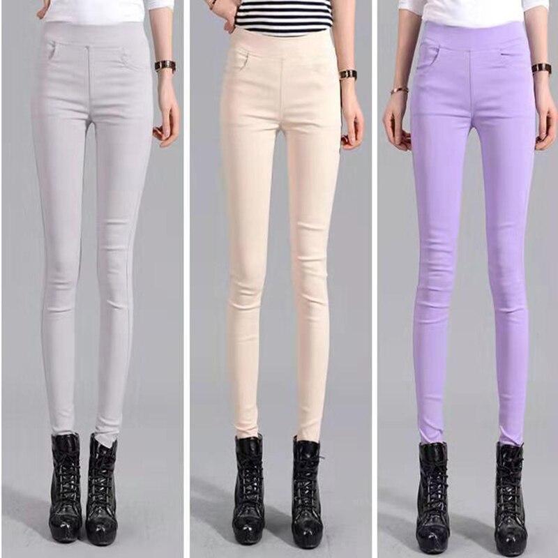 De talla grande 9 colores lisas casuales Slim Leggins Mujer para las mujeres engrosada Super elástico leotardos para Mujer entrenamiento Legins pantalones C38