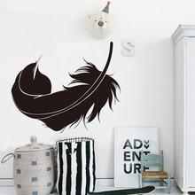 ملصقات صناعة يدوية الطيور ريشة للإزالة الجدار ملصق مائي الأسرة المنزل ملصقات جدارية الفن غرفة المعيشة المنزلي غرفة نوم الديكور # L5