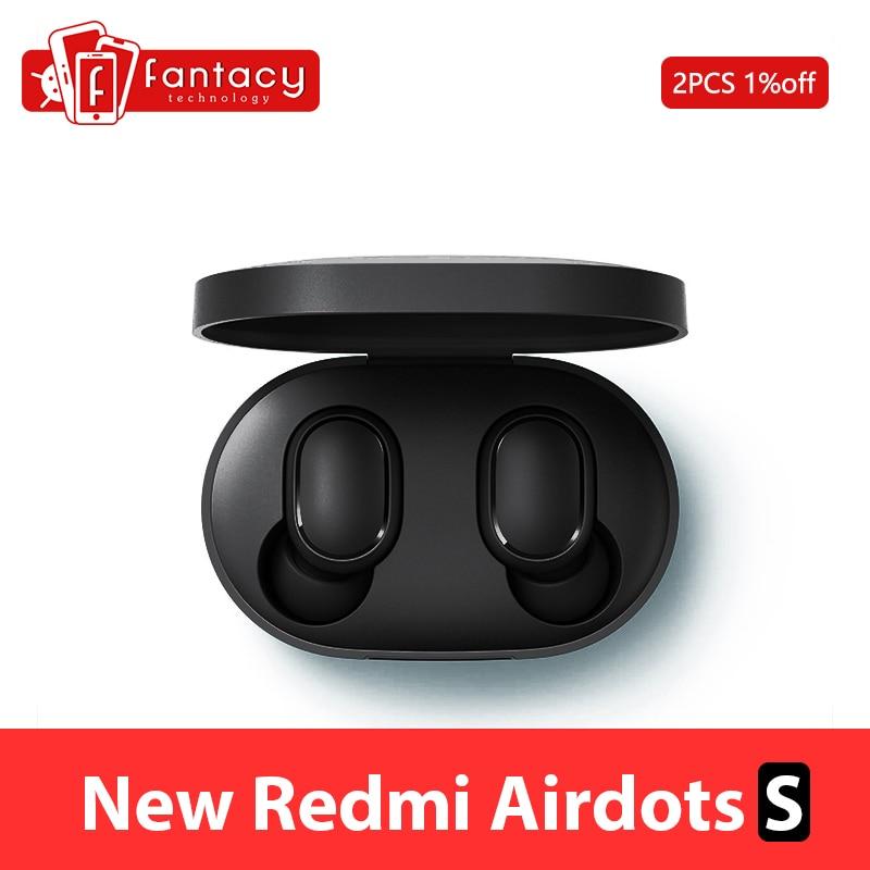 Новинка Xiaomi Redmi AirDots S Bluetooth 5,0 беспроводные наушники TWS левый и правый режим низкого лага Bluetooth 5,0 гарнитура Авто Режим игры