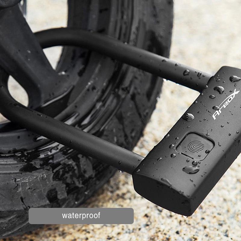 شاومي Mijia AreoX U8 الذكية بصمة U-قفل مكافحة سرقة دراجة نارية قفل الباب نوع-C قابلة للشحن الغرز المتشابكة مقاوم للماء