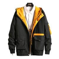 Ветровка мужская в стиле хип-хоп, повседневная куртка, Карго, Бомбер, пальто, уличная одежда