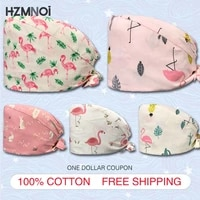 fashion printed printed frosted cap dental printed frosted cap 100 cotton womens mens dustproof veterinary dentist work cap