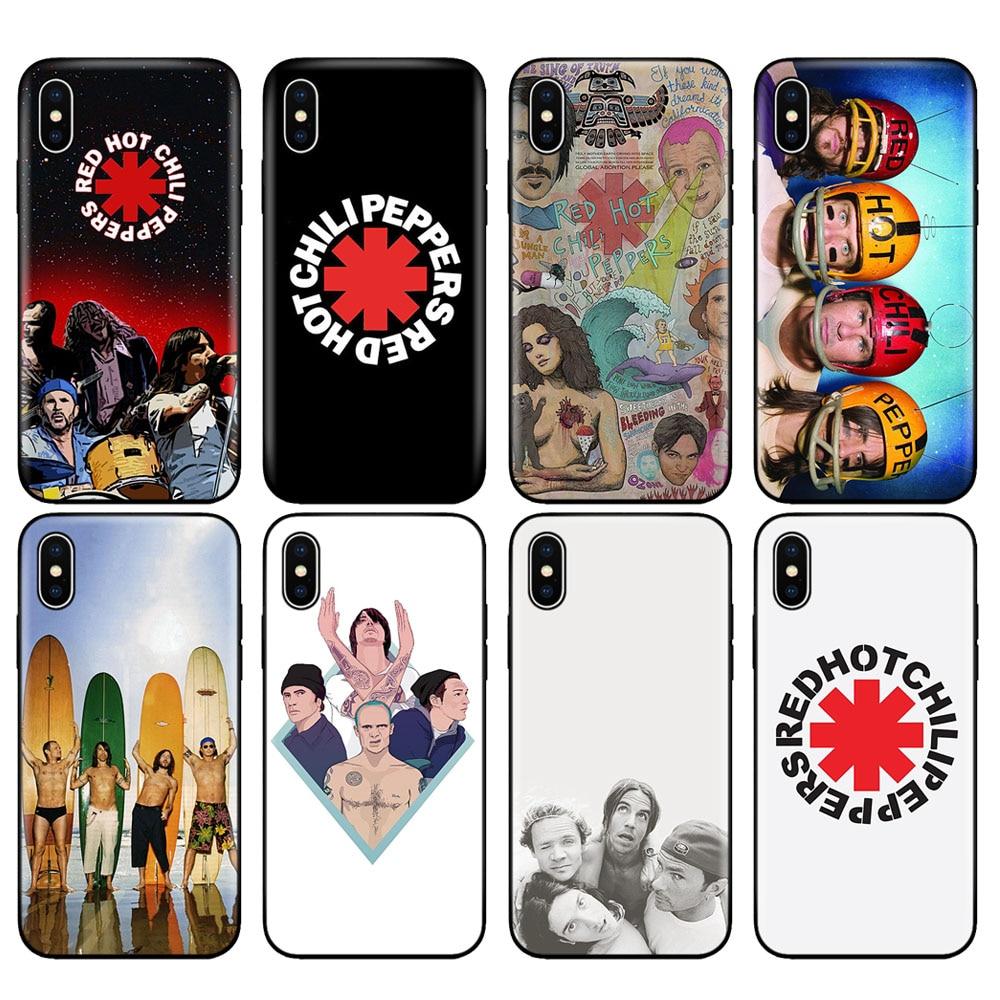 Черный ТПУ чехол для iphone 5 5s se 6 6s 7 8 plus x 10 чехол силиконовый чехол для iphone XR XS MAX чехол красный Горячий Перец Чили