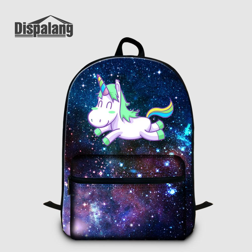Mochila Dispalang Universe, mochila para portátil Space Unicorn, 14, mochila para portátil para adolescentes, mochila de moda para mujer, mochila de viaje, bolsas portátiles