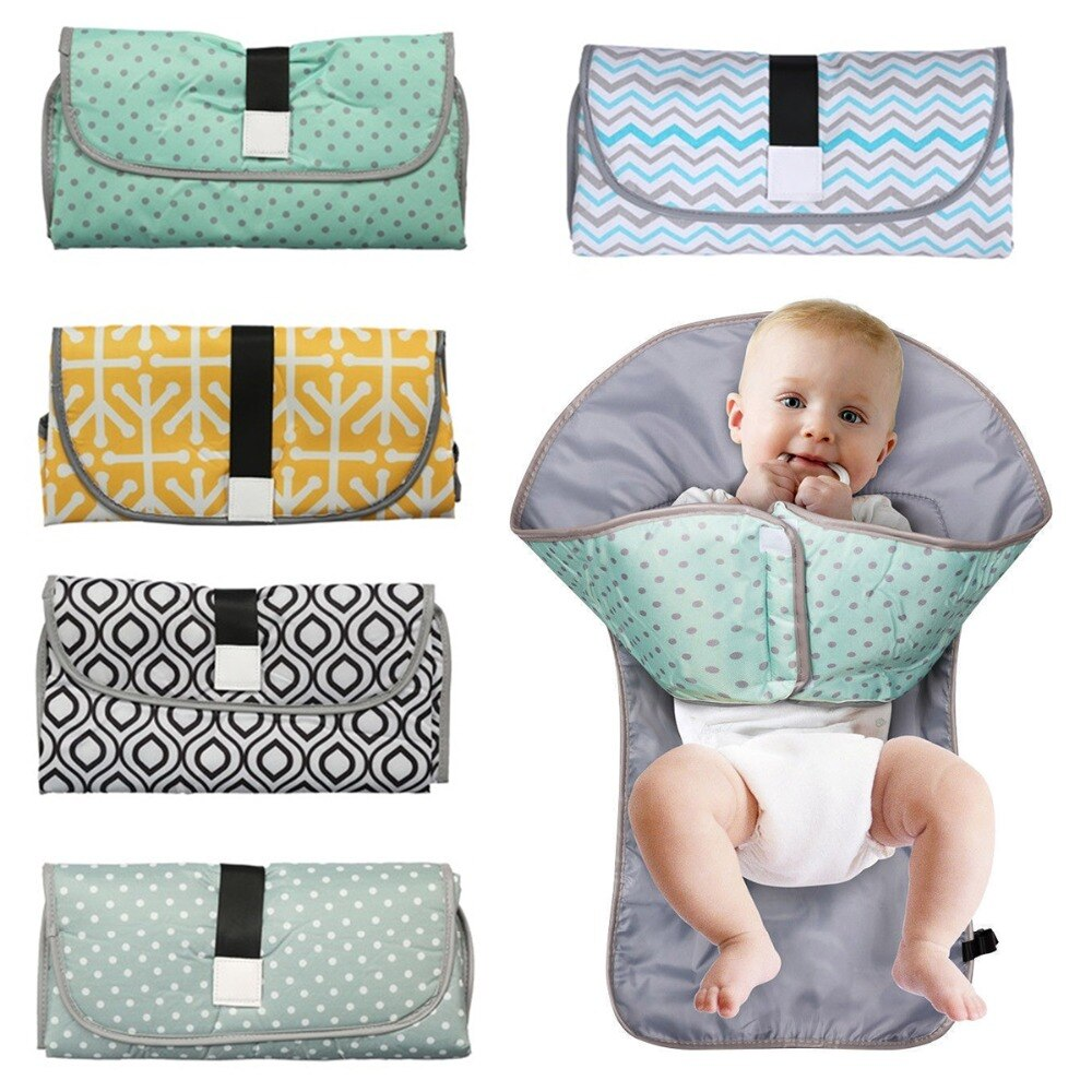 Multifunctional Portable Infant Baby Foldable Urine Mat Waterproof Nappy Bag Diaper Changing Cover Pad Travel Outdoor