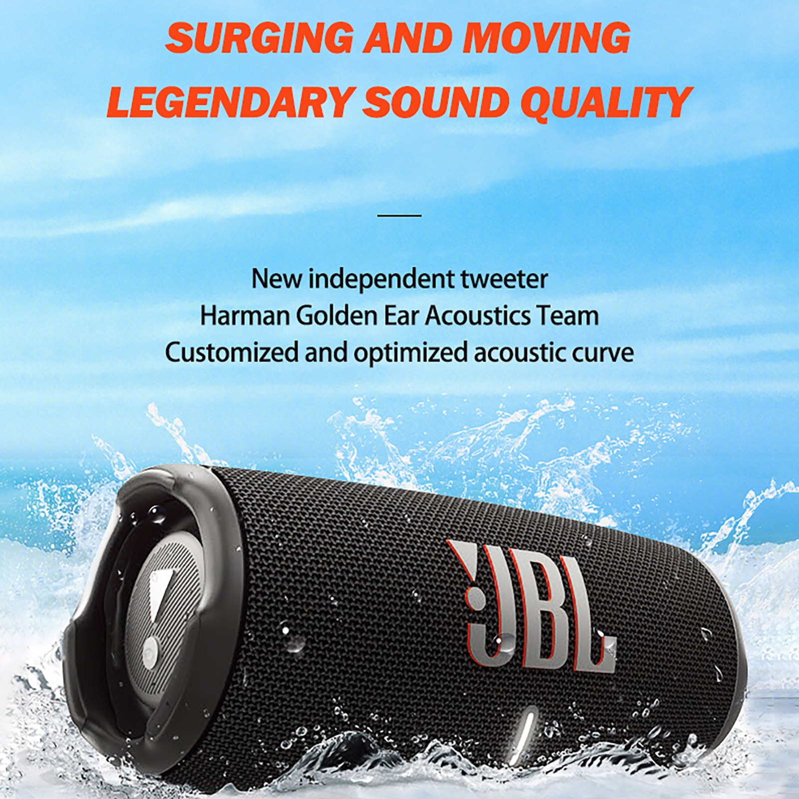 [해외] Jbl Charge5 블루투스 스피커 무선 음악 Hifi 사운드 딥 Partybox 스피커 충전 4 플립 5 Flip5 클립 3 펄스 Go2 충전 5