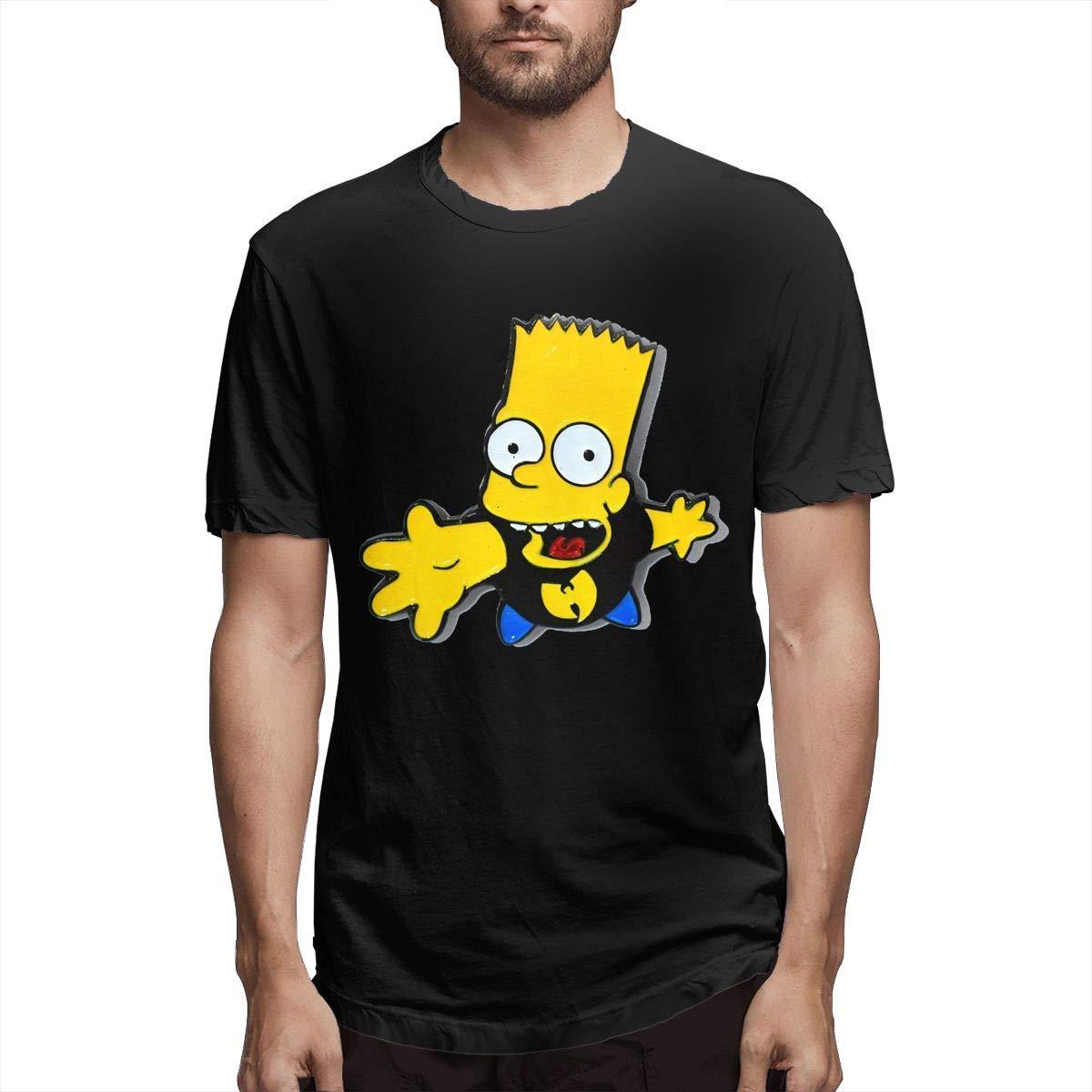 T-shirts preto unisex das mulheres dos homens de tsdfc bart simpson