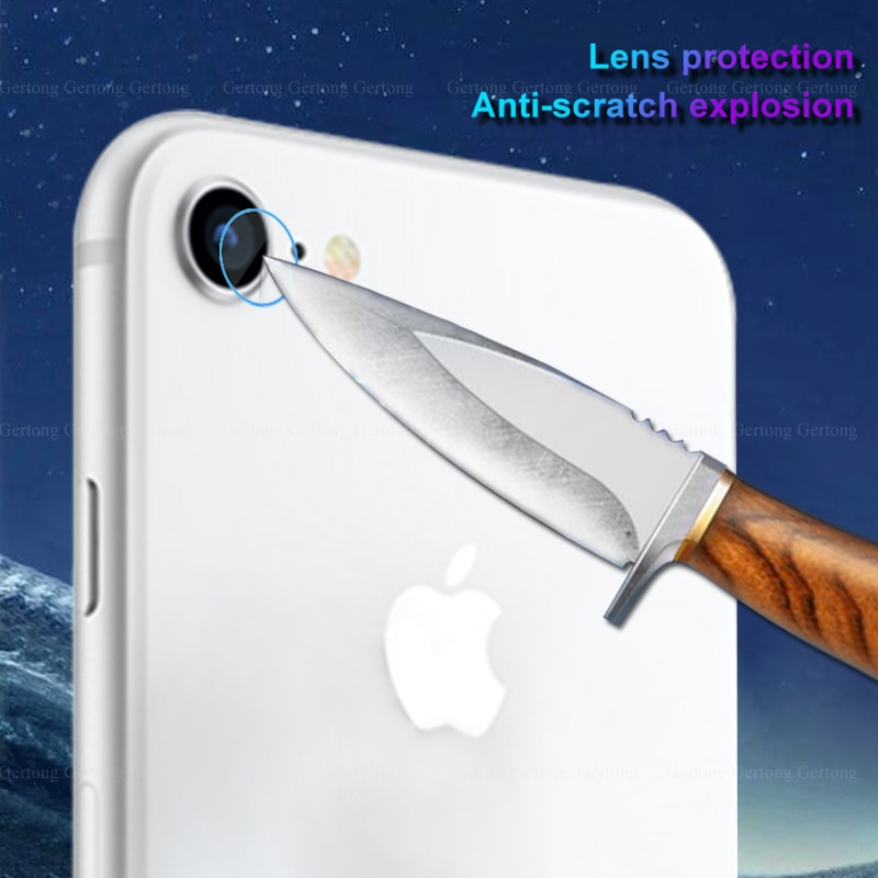 2-1 Uds cristal de la Lente de la cámara trasera para iPhone Xs Max 7 8 Plus 11 lente transparente Protector de pantalla para iPhone X XS X XR 11 Pro max