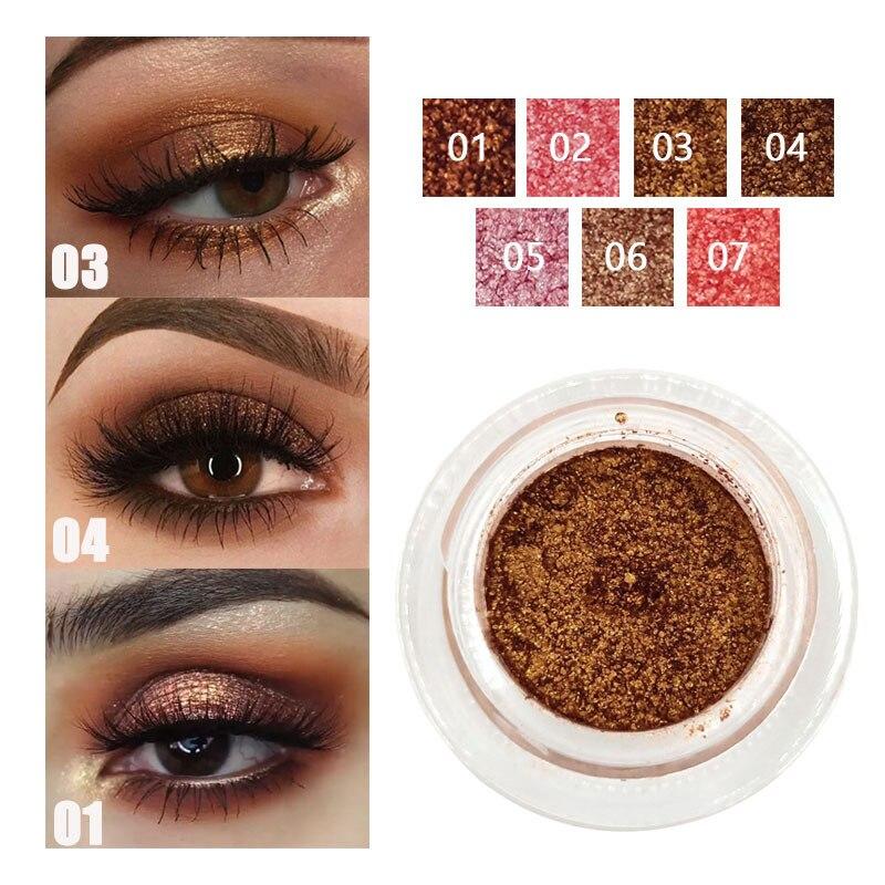 DNM mate brillo sombra de ojos paleta metálico perlado encantador impermeable de sombra de ojos Mineral en polvo pigmento cosméticos TSLM2