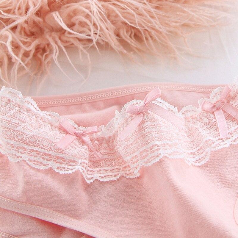 Women Cotton Panties Lace Solid Color Panties Lingerie Ladies Comfortable Floral Underpants Female Briefs #G