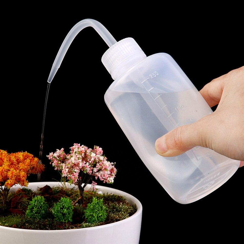 PULVERIZADOR DE AGUA, botella transparente de 250ml, botella de agua transparente de gran presión, recipiente de líquidos, exprimidor para riego de macetas bonsái