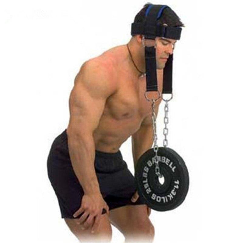 Kopf Neck Harness Training Fitness Gewicht Lager Kappe Schulter Muscle Trainer Neck Widerstand Training Mit Stahl Kette