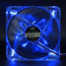 140mm LED ventilateur de refroidissement ordinateur ventilateur a14025-10cb-3bn-f1 14cm 12V 0.14a 1000 tr/min silence silencieux LED ventilateur de refroidissement lumineux