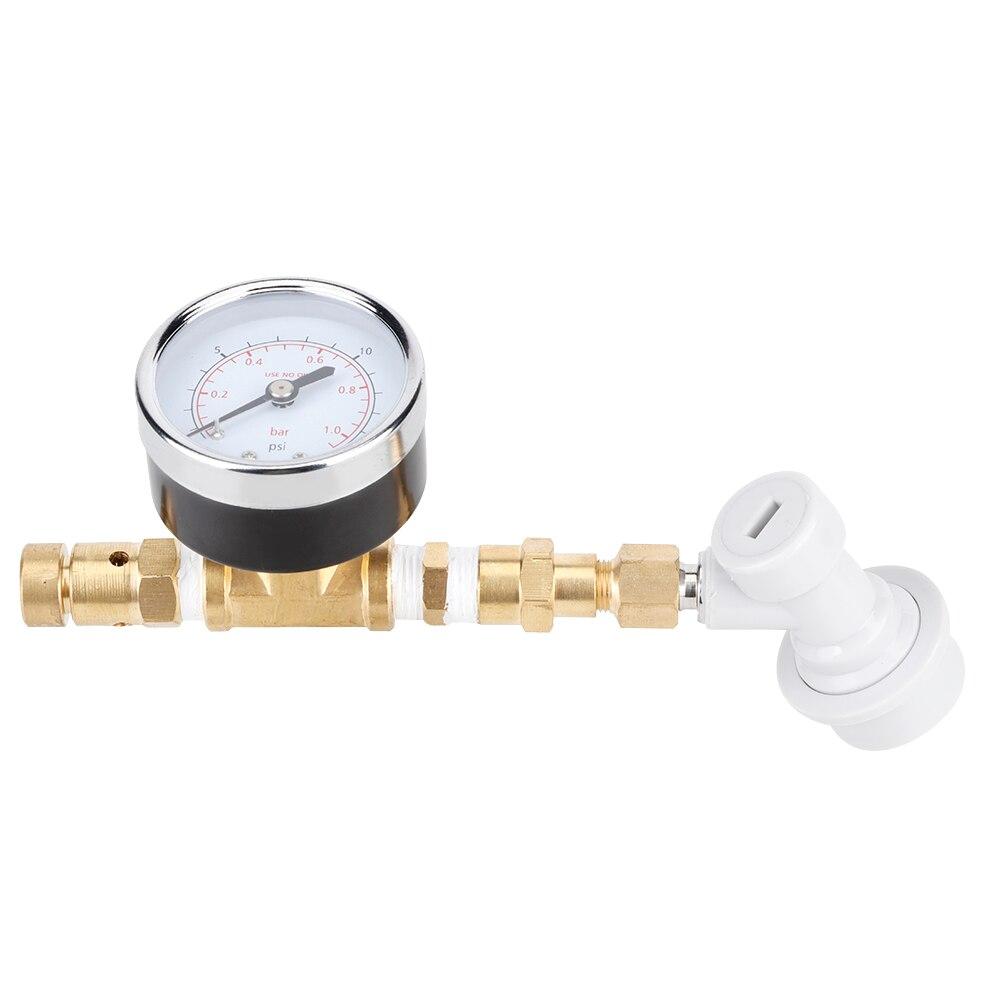 الكرة قفل مع قياس صمام تنفيس قابل للتعديل الجمعية 0-15psi معدات تخمير معدات تخمير البيرة صمام تجاوز