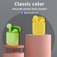 HD Call Wireless Headphone  I12 TWS Original Headphones with For Smartphone I7 Mini Bluetooth Earpho
