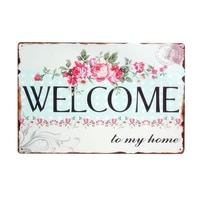 Une maison sans chien  cest juste une maison  Signes metalliques vintage  plaque en fer-blanc retro  bienvenue  adorable  amour  famille