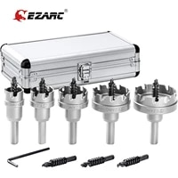 ezarc carbide hole cutter set 9 piece for stainless steel long life hole saw kit for hard metal