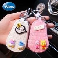disney mickey mouse minnie donald duck daisy car key protective cover universal car key case holster cartoon keychain pendant